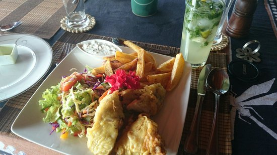 Asian Jewel Boutique Hotel: Fish and chips