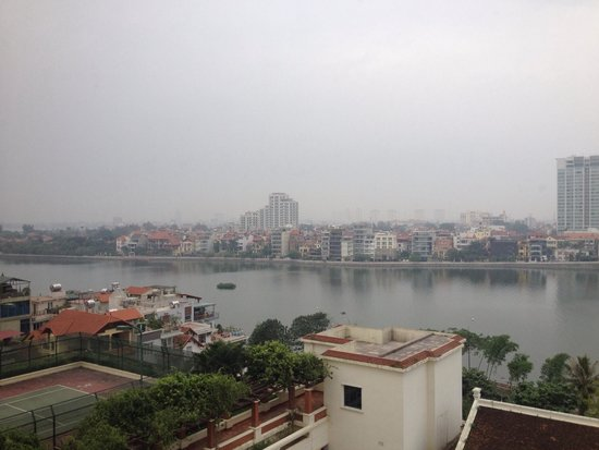 Sheraton Hanoi Hotel: View from our lovely room