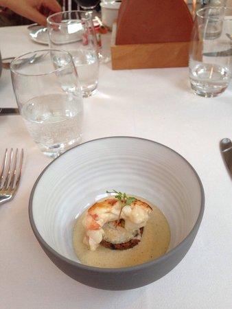 Restaurant JYS : Maki de légumes et langouste