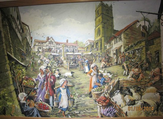Gold Hill Museum: Medieval view of the Hill