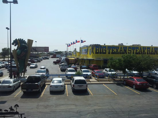 Big Texan Motel: View from our room