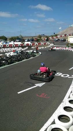 Lanzarote Karting : Me and my 4 year old!