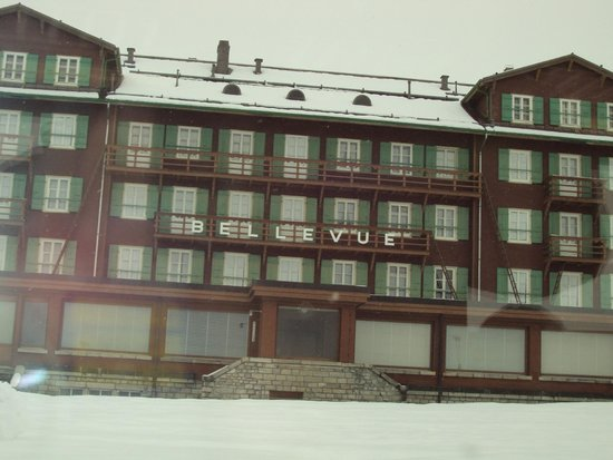 Jungfraujoch: One of the pictures of Hotel Bellevue Des Alps at Jungfrau. Switzerland.