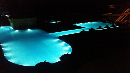 Skanes Family Resort: view from room 4219 at night