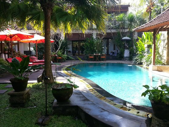 Lumbung Sari Cottages: Pool area