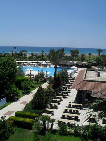 Felicia Village: Vue piscine-plage de la tour