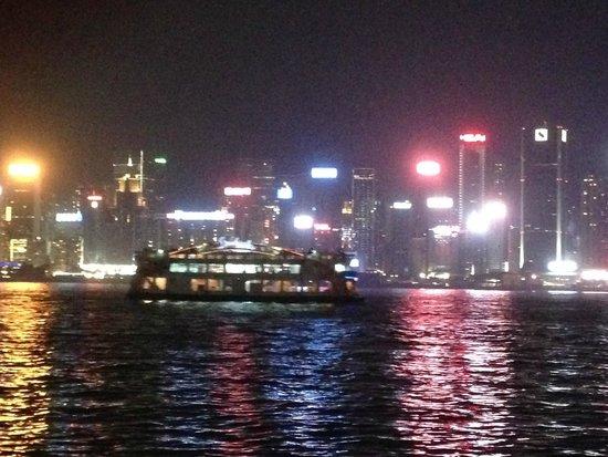 Victoria Harbour: HK Island Skyline at night