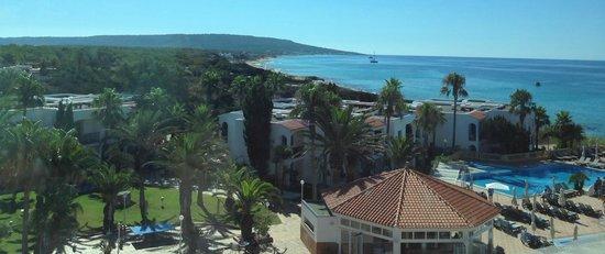 Insotel Hotel Formentera Playa: Blick aus dem Zimmer vorne raus mit der sicht auf die Strandküste