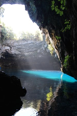 Melissani Cave: A view from inside the cave