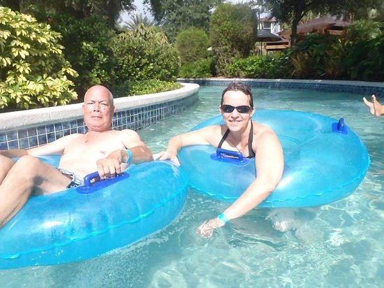 Holiday Inn Club Vacations Orlando - Orange Lake Resort: Enjoying the lazy river at OLR