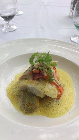 Hotel Les Florets: Tarbot filet met mini artisjok