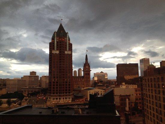 Hyatt Regency Milwaukee: Just before the evening rain storm
