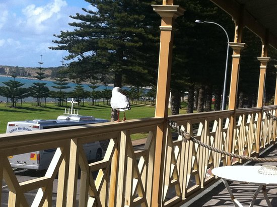 Anchorage Seafront Hotel: View from the upstairs room balcony