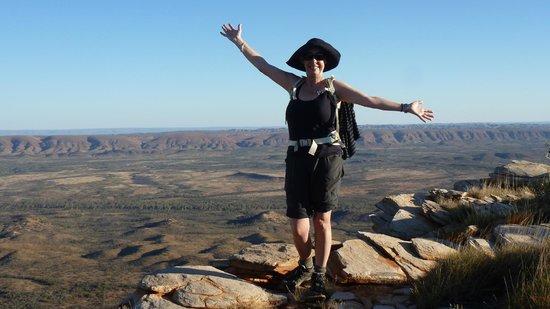 The Larapinta Trail: Top of Mt Sonder