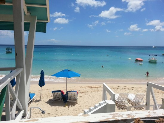Mullins Beach Bar : View to the Caribbean Sea