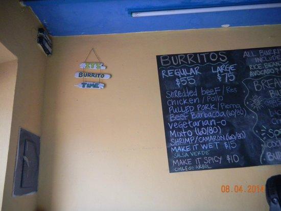 Burritos Gorditos: It's burrito time!!! & the menu