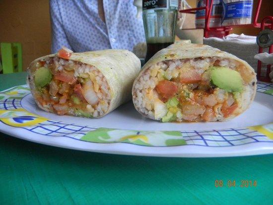 Burritos Gorditos: camarón burrito