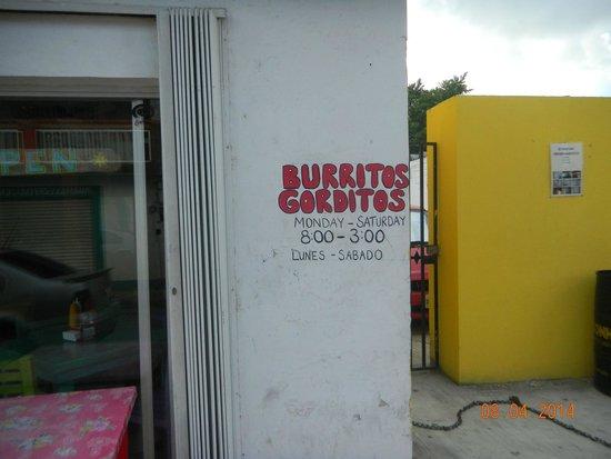 Burritos Gorditos: Outside the restaurant