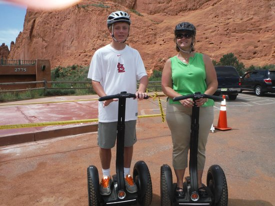 Adventures Out West: Garden of the Gods segway tour - stop 1