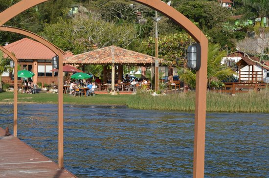 Ponta das Caranhas: View of the restaurant from the deck