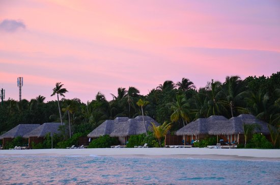 Veligandu Island Resort & Spa: Amazing sunset