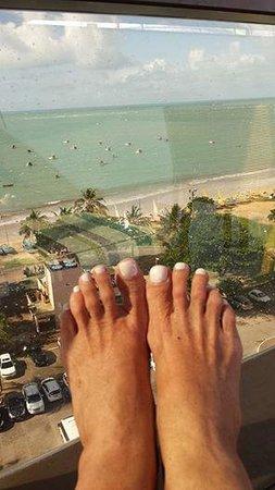 Best Western PREMIER Maceio: relaxar no terraço do hotel olhando essa paisagem, não tem preço !