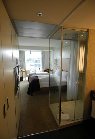 Pullman Dresden Newa: view from entrance; right hand side shower & bath