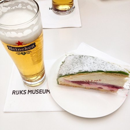 Rijksmuseum (Museo Nacional de Ámsterdam): A perfect breakfast combination.