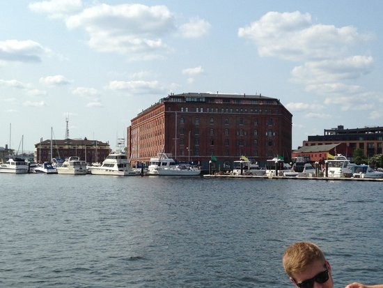 Inn at Henderson's Wharf: View of the Inn from a water taxi.