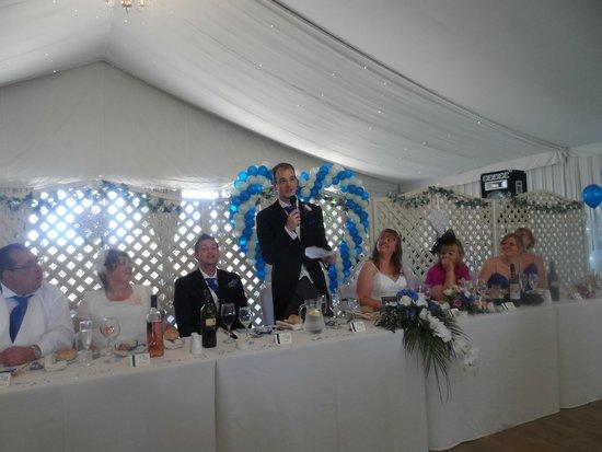 Woodlands Castle: spacious wedding reception area