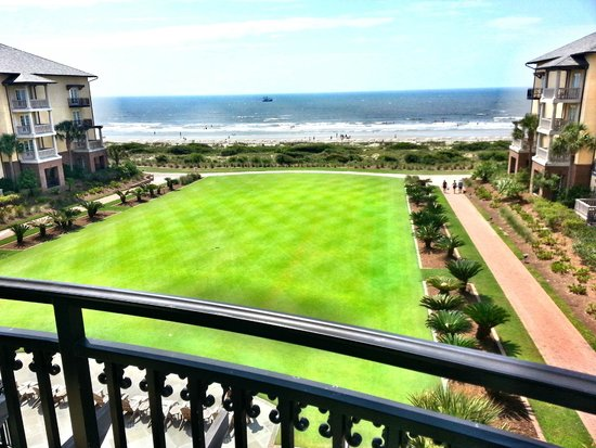 The Sanctuary Hotel at Kiawah Island Golf Resort: Balcony overlooking the sea