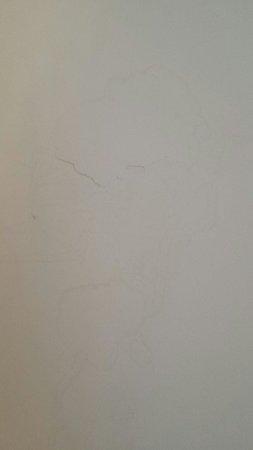 Hotel Guitart Monterrey : murs tachés