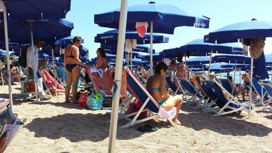 Palmasera Village Resort : Ecco gli spazi fra gli ombrelloni...