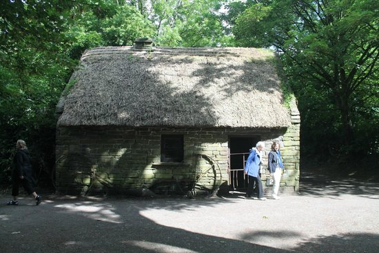 Bunratty Castle: One of the Thatched huts on the grounds