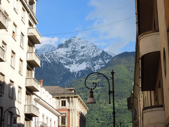 HB Aosta Hotel: View from within town.
