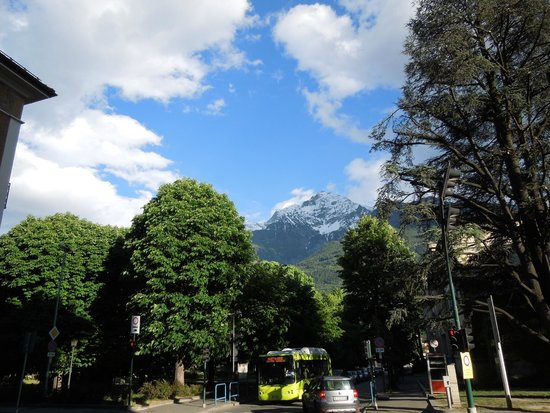 HB Aosta Hotel: View from the town.