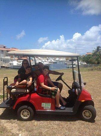 Wyndham Garden at Palmas del Mar: golf car the only fun.