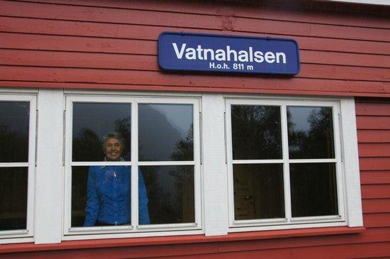 Vatnahalsen Hoyfjellshotell: de wachtkamer voor de Flam railway