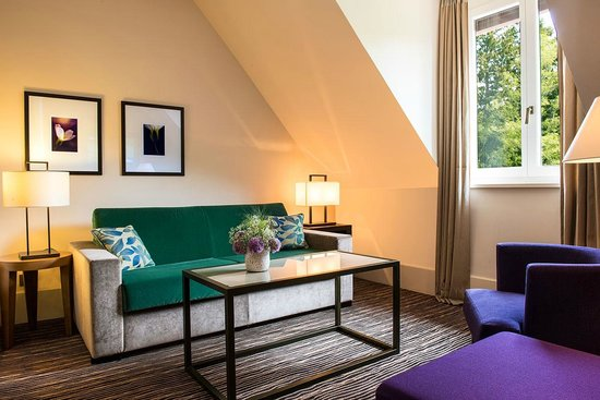 Hotel Ermitage - Evian Resort : Chambre Privilège Côté Sud - le salon