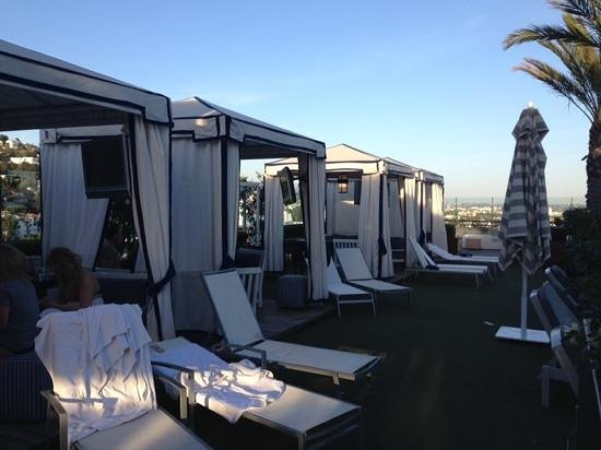 The London West Hollywood: roof top gazebos