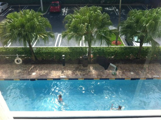 Hampton Inn Hallandale Beach/Aventura: Nice pool room view