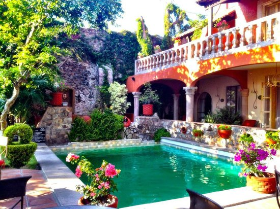 Coqueta Hotel Boutique: Garden and pool