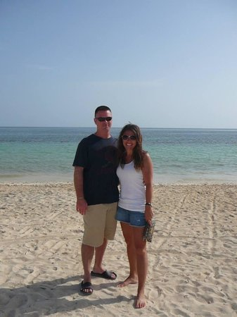 Iberostar Rose Hall Suites : the hubby and i on the beach