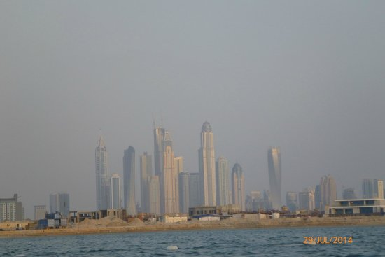 Atlantis, The Palm: View of the city from the beach