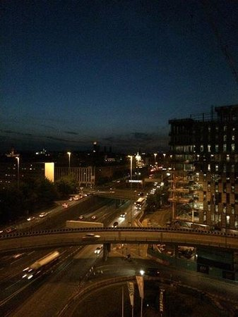 Hilton Glasgow: night view from 11th fllor