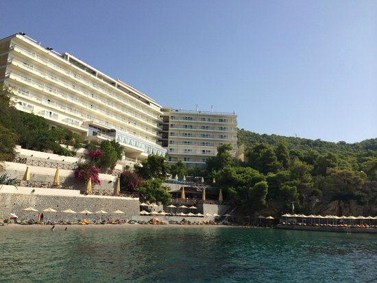 Sirene Blue Resort: View of the hotel from the boat steg