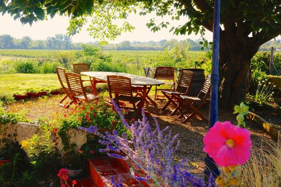 Garden at Domaine Rouge-Bleu