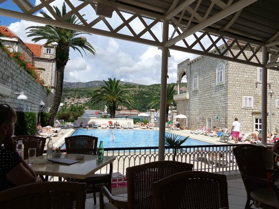 Hotel Lapad: View from pool bar