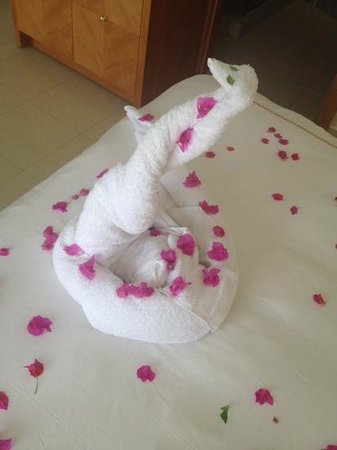Le Royal Holiday Resort: towel art