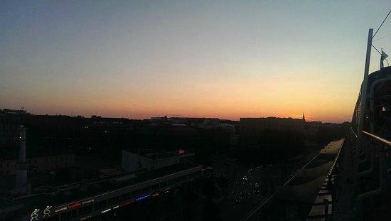 "Original Sokos Hotel Vaakuna: Sunset view from the roof top bar ""Loiste"""